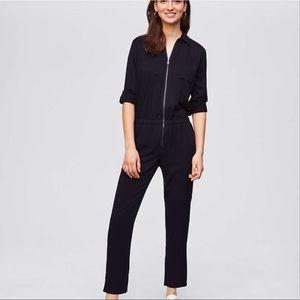 Zip-Front Utility Jumpsuit In Black 🦋
